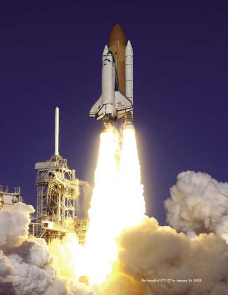 The Launch of STS-107 on January 16, 2003